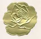 Large Gold Foil Roses, pack of 20